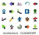 colored vector icon set  ... | Shutterstock .eps vector #1126682309