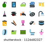 colored vector icon set   soap... | Shutterstock .eps vector #1126682327