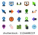 colored vector icon set  ... | Shutterstock .eps vector #1126688219