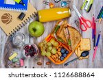 healthy kids lunchbox with...   Shutterstock . vector #1126688864