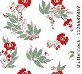 stock vector seamless flower ... | Shutterstock .eps vector #1126689869
