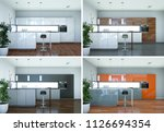 3d illustration of four views... | Shutterstock . vector #1126694354