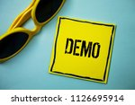 writing note showing  demo.... | Shutterstock . vector #1126695914