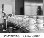 coffee cups and machine | Shutterstock . vector #1126703084