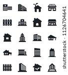 set of vector isolated black... | Shutterstock .eps vector #1126704641