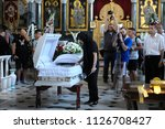 editorial use only. burial... | Shutterstock . vector #1126708427