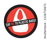 plastic bag with title say no...   Shutterstock .eps vector #1126710671
