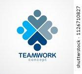 teamwork businessman unity and... | Shutterstock .eps vector #1126710827