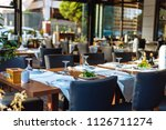 indoor or outdoor restaurant... | Shutterstock . vector #1126711274