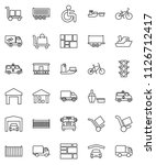 thin line vector icon set  ...   Shutterstock .eps vector #1126712417