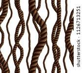 seamless pattern rope woven...   Shutterstock .eps vector #1126713251