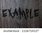 word writing text example.... | Shutterstock . vector #1126714127