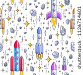 seamless space background with... | Shutterstock .eps vector #1126714601