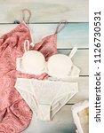 women's underwear bra and... | Shutterstock . vector #1126730531