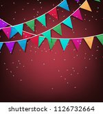festive background with... | Shutterstock . vector #1126732664
