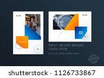 brochure design rectangular... | Shutterstock .eps vector #1126733867