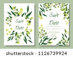wedding invitation frames with... | Shutterstock .eps vector #1126739924