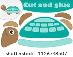 turtle in cartoon style ... | Shutterstock .eps vector #1126748507