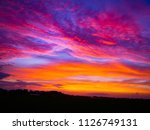 natural sunset in evening rise... | Shutterstock . vector #1126749131