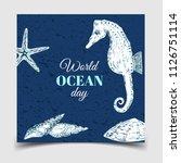 world oceans day. the... | Shutterstock .eps vector #1126751114