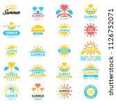 summer holidays design elements ... | Shutterstock .eps vector #1126752071