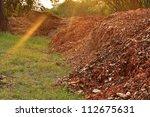 Garden Compost  Mulch Leaves.