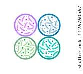 probiotics logo. concept of... | Shutterstock .eps vector #1126760567