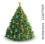 christmas tree. raster version  ... | Shutterstock . vector #112677029
