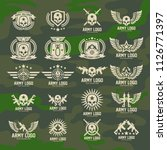 set of military and armed... | Shutterstock .eps vector #1126771397