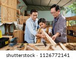 father  grandfather and son... | Shutterstock . vector #1126772141