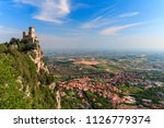 San Marino City View. Fortress...