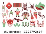 vector set of peru icons... | Shutterstock .eps vector #1126792619