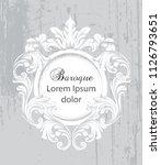 vintage baroque frame card... | Shutterstock .eps vector #1126793651