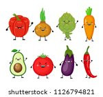 funny cartoon set of different... | Shutterstock .eps vector #1126794821