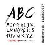 vector fonts   handwritten... | Shutterstock .eps vector #1126800887