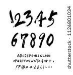 vector fonts   handwritten...   Shutterstock .eps vector #1126801034