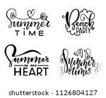 beautiful lettering. summer...   Shutterstock .eps vector #1126804127