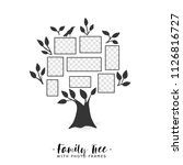 family tree with photo frames.... | Shutterstock .eps vector #1126816727