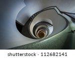 modern spiral staircase in...   Shutterstock . vector #112682141