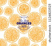 orange seamless pattern. hand... | Shutterstock .eps vector #1126823525