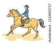equestrian sport. a color... | Shutterstock .eps vector #1126823717