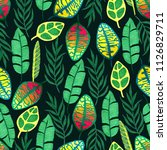 seamless pattern with tropical... | Shutterstock . vector #1126829711