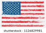 grunge american flag.dirty flag ... | Shutterstock .eps vector #1126829981