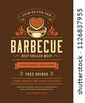 barbecue party vector flyer or... | Shutterstock .eps vector #1126837955