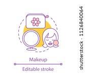 makeup concept icon. cosmetics...   Shutterstock .eps vector #1126840064