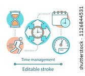 time management concept icon.... | Shutterstock .eps vector #1126844531