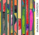 bauhaus pattern. multicolored... | Shutterstock . vector #1126845254