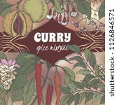 color curry mixture template... | Shutterstock .eps vector #1126846571