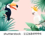 summer tropical background | Shutterstock . vector #1126849994