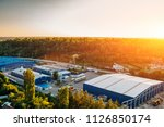 aerial view of warehouse... | Shutterstock . vector #1126850174